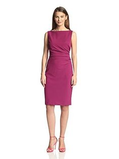 Single Women's Samantha Ruched Dress (Magenta)