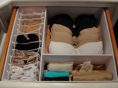 Dicas para organizar roupa íntima