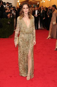 MET GALA 2014 Leighton Meester Dress by Emilio Pucci I kind of love this dress although very NOT MET GALA!