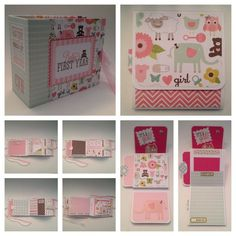 BABY MINI ALBUM - Echo Park Bundle of Joy-Girl. Baby's first year pocket page mini album --Count The Happies--