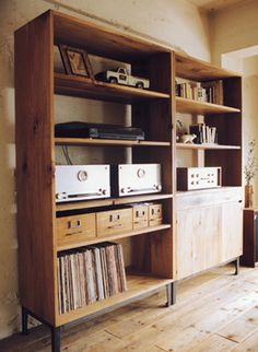 FM shelf.  If only I could get my hands on the vintage record player of my dreams... Sigh...