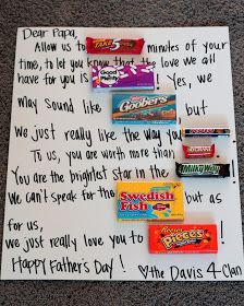 Want to give Dad a little sweetness this Father's Day? Well look no further! Give him a note that is sweet and delicious!   Candy to use: T...