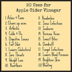 Apple Cider Vinegar and its uses..  What are your recipes using ACV? Share it with the community