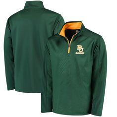 Baylor Bears Colosseum Sleet Embossed Quarter-Zip Pullover Jacket - Green - $43.99