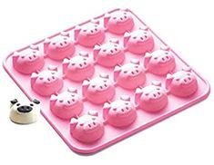 SiliconeZone Piggy Collection Non-Stick Silicone Chocolate Mold, Pink Chocolate Candy Molds, Chocolate Bomb, Chocolate Muffins, Donut Tray, Food Mold, How To Make Cupcakes, Vintage Baking, Handmade Chocolates, Baking Cups