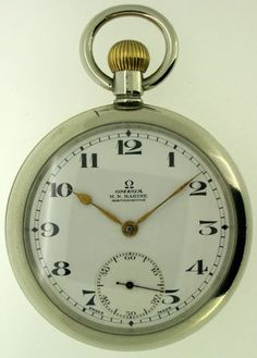 Omega Pocket Watch  Nickel case, Swiss made c.1929  Price: NZ$465.00   Reference: #0776