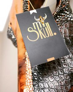 Buy a buffalo skull and decorate ALSO yourself with this beautyful necklace!   Buffalo skull with swarovski, metallic gold & leather! Interesse? Stuur een mailtje naar myskull@mail.com. Kijk ook op onze Facebook & Insta: /from.myskull