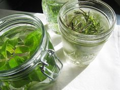 Infuse vodka with your favorite herbs and enjoy a dill martini, a rosemary lemon drop or a pineapple sage screwdriver! How fun and refreshing!