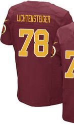 "$78.00--Men's Nike Washington Redskins #78 Kory Lichtensteiger Elite Burgundy Red Gold Number Alternate 80TH Anniversary NFL Jersey,Free Shipping! Buy it now:click on the picture, than click on ""visit aliexpress.com"" In the new page."