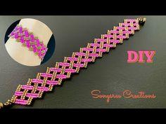 Basket Weave Beaded Bracelet    How to make Beaded Bracelet - YouTube Beaded Bracelets Tutorial, Beaded Bracelet Patterns, Beading Patterns, Making Bracelets With Beads, Jewelry Making, Free Beading Tutorials, Bead Weaving, Basket Weaving, Handmade Jewelry