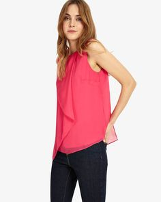 Phase Eight Kylie Drape Front Blouse Pink