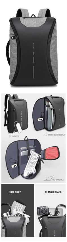 380894b6600 New Smart Multifunctional Laptop Computer Backpack Casual Business Travel  Bag with External USB Charger for Mobile Phones