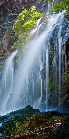 Stunning waterfalls in Thousand Springs, Idaho.