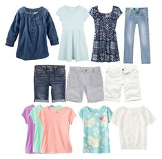 A Girl's Back-to-School Capsule Wardrobe: Summer Carry Overs | Transitioning from Summer to Fall Capsule Wardrobe.