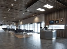 For the expansion of Trondheim #Airport Vaernes, Nordic Office of Architecture, responsible for the project management, selected the bench series 8000 from Kusch+Co to furnish the new commuter #terminal.  #Airportseating #Transport #Publicseating