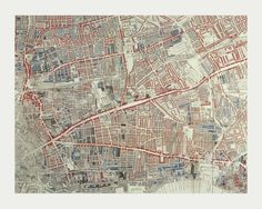 Murals of London Poverty Map of Hoxton by Museum of London (3000mm x 2400mm) | Shop | Surface View