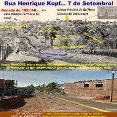 IJUÍ - RS - Memória Virtual: Rua Henrique Kopf e 7 de Setembro por volta dos an...