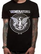 Officially licensed Generators t-shirt design printed on a 100% cotton short sleeved T-shirt.