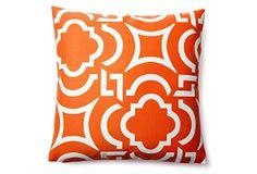 Wavelength 20x20 Outdoor Pillow, Papaya on OneKingsLane.com