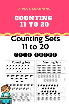 Math Activities, Teacher Resources, Worksheets For Kids, Autumn Theme, My Teacher, Counting, Free Printables, Homeschool, Teaching