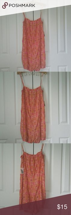 """▪Forever 21 Spaghetti Strap Romper▪ Brand new with tags. Size is Large. Color is cream, yellow, pink, tan, gold. Elastic around the legs and bust. Measures 15.5"""" without stretching.  Adjustable straps.  No trades.  If you have any questions please ask.  If you don't like price please use the offer button.  Have an amazing day!  """"Great Sense of Style"""" Forever 21 Pants Jumpsuits & Rompers"""