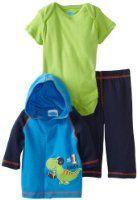 Amazon.com: BON BEBE Baby-boys Newborn Guitar and Stars Micro Fleece 3 Piece Hooded Jacket Set: Clothing
