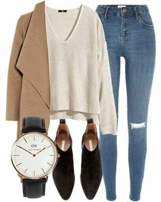 10 Gorgeous ways to style a pullover for fall - sweater outfit ideas - Kleidung - Summer Dress Outfits Look Fashion, Fashion Outfits, Womens Fashion, Fashion Trends, Dress Fashion, Fashion News, Fashion Mumblr, School Fashion, Fashion Black