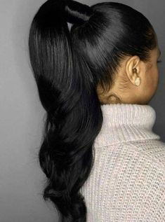 Prom hairstyles that will make all heads turn #promhairdos best hairstyles for prom, prom hairstyles, elegant hairstyles for prom, best prom hairstyles, prom hairstyles updo, prom hairstyles down, prom hairstyles 2020 #promhairstyles #besthairstyles braided updo , half up half down hairstyles #bridehairstyles #longhair Black Ponytail Hairstyles, Hair Ponytail Styles, Sleek Ponytail, Black Women Hairstyles, Weave Hairstyles, Girl Hairstyles, Wedding Hairstyles, Curly Hair Styles, Natural Hair Styles