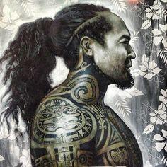 Tania Wursig - Blood & Ink - Blood & Ink A collection of works inspired by the 'Mana' (spiritual energy) of the people and culture of Tahiti. Polynesian Art, Polynesian Culture, Art Maori, Rite De Passage, Zealand Tattoo, Hawaiian Art, Hawaiian Quotes, Hawaiian Legends, Marquesan Tattoos