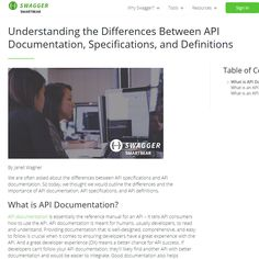Understanding the Differences Between API Documentation, Specifications, and Definitions - Article for Swagger.io https://swagger.io/resources/articles/difference-between-api-documentation-specification/