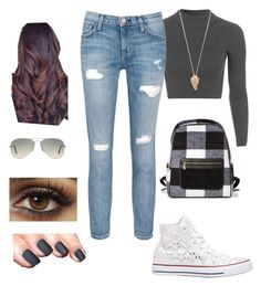 """""""ALEXIA STYLES"""" by hollyy-xx on Polyvore featuring Topshop, Current/Elliott, Converse, Ray-Ban and Pamela Love"""