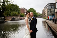 Bride and Groom - Regents Canal - Kings Place Wedding Venue North London