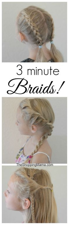 3 minute cute and easy braids for girls. (Minutes Hairstyles Easy Hair)