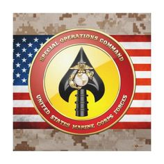 USMC Special Operations Command (MARSOC) [3D] Gallery Wrap Canvas - Post Jobs, Tell Others and Become a Sponsor at www.HireAVeteran.com