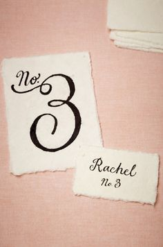 Chic table numbers, www.theperfectpalette.com - Vintage Meets Modern