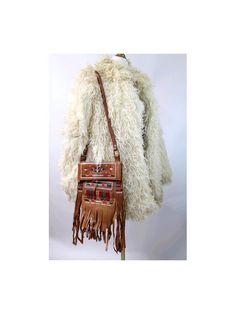 Boho fringe leather bag embroidered bag by lesclodettes on Etsy