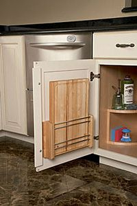 My Scrapbook | Shenandoah Cabinetry Cutting Board Storage, Diy Cutting Board, Kitchen Cabinet Interior, New Cabinet, Cabinet Ideas, Door Storage, Tall Cabinet Storage, Slide Out Shelves, Traditional Cabinets