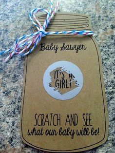 10 Baby Gender Reveal Scratch Off Cards Mason by jilliansawyer