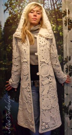 Coats. Irish crochet. Hoodie. Jumper. Jacket. Wool. by AlisaSonya