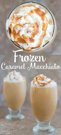 DIY Homemade Frozen Caramel Macchiato