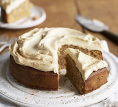 Using olive oil keeps this cake really moist, while spelt flour makes the crumb soft and tender. Add the cream cheese frosting at the last minute