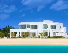 Architecture, Contemporary Beach House Plans In White Painted Offer Incedible Sea View And In Huge Size: Breathtaking Contemporary Beach House