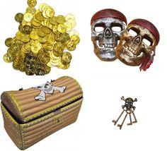 skattejagt pirattema, skattejagt til børnefødselsdag