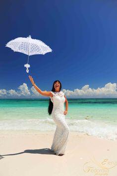 Wedding photography. Wedding photo session on the amazing beach.
