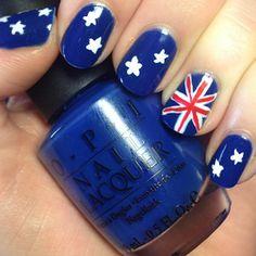 The Nail Trail: Happy Australia Day! Flag Nails, Happy Australia Day, Australian Flags, Cool Nail Art, Love Nails, Nails Inspiration, Fourth Of July, Trail, Nail Designs