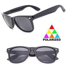 c43abb60f4 Polarized Anti Glare Driving Sports Clear Vision Black Sunglasses By  Sunclassy Impact Resistance Lenses FDA Approved 100 Block Of UVA UVB UVC  Rays ...