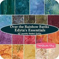 Over the Rainbow Edyta's Essentials Batiks Fat Quarter BundleLaundry Basket Quilts for Moda Fabrics
