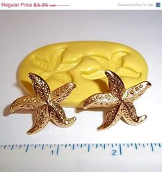 On Sale Starfish Flexible Mold Nautical Ocean Mould For Resin Paper Clay Sculpey Fimo Polymer Fondant Wax Chocolate Food Safe  M510 on Etsy, $3.87