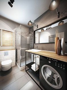 Диалоги Laundry Room Design, Bathroom Design Small, Bathroom Interior Design, Bathroom Toilets, Laundry In Bathroom, Narrow Bathroom, Modern Bathroom, Bad Inspiration, Bathroom Inspiration