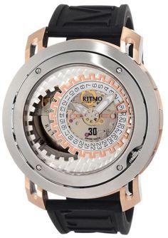 Ritmo Mundo Men's 202 SS RG Persepolis Dual-Time Exhibition Automatic Watch